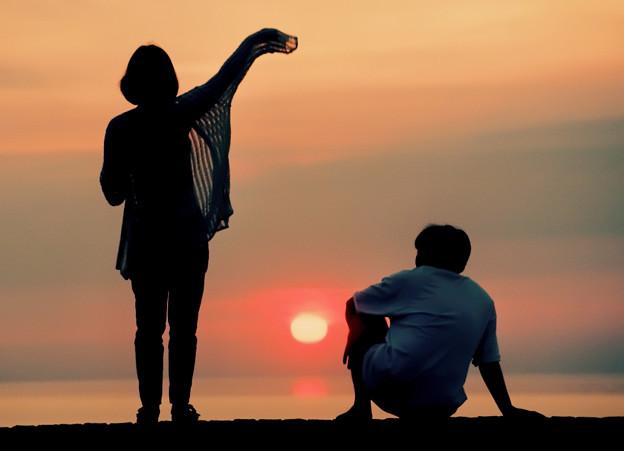 夕陽の二人