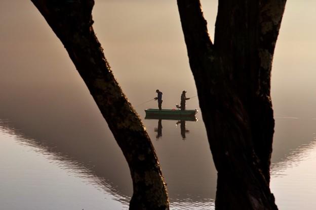 写真: 朝の景