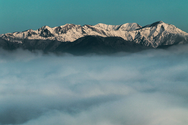 雲上の雪山