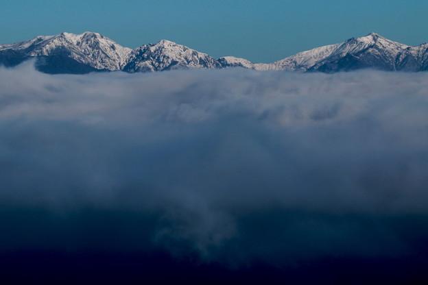 雪山を望む