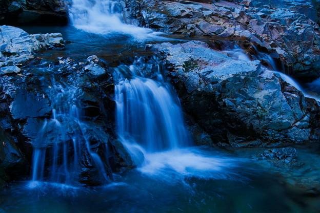 岩場の流れ