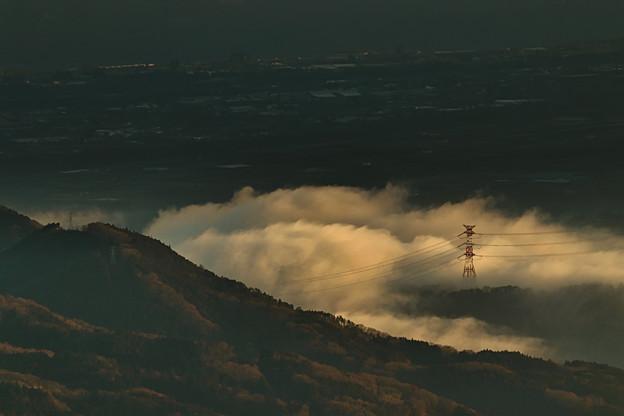Photos: 朝雲湧く