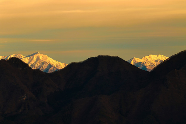 Photos: 朝の冬山