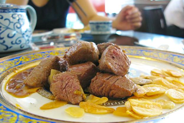 写真: 上林鐵板焼
