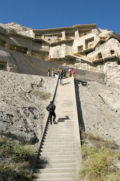 写真: 千仏洞への石段