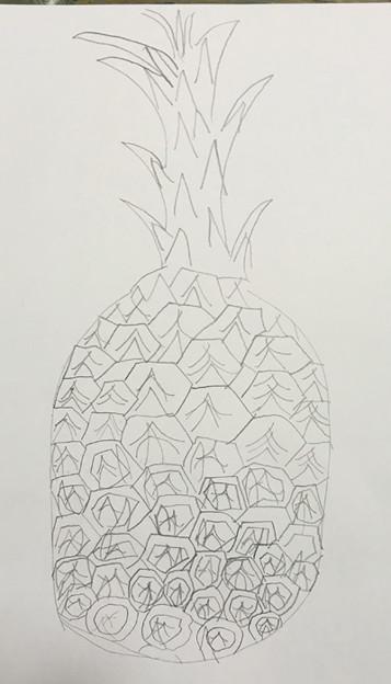 パイナップルを描こう