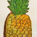 写真: パイナップルを描こう