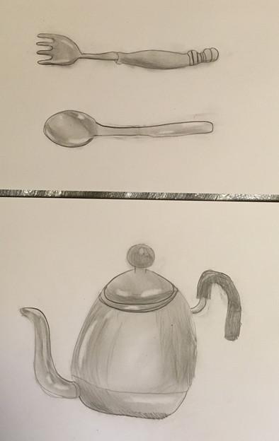 台所用品を描こう