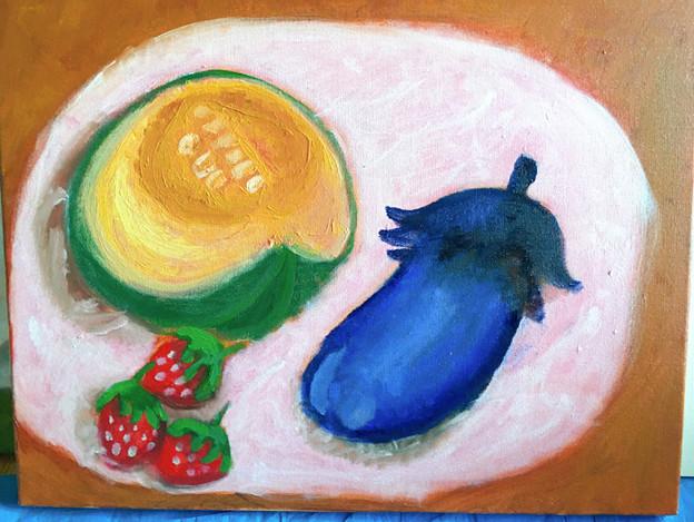 油絵・夏野菜を描こう