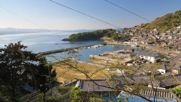 03長崎県道201号線より富津漁港を望む