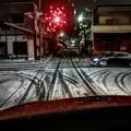 写真: 吹雪の夜