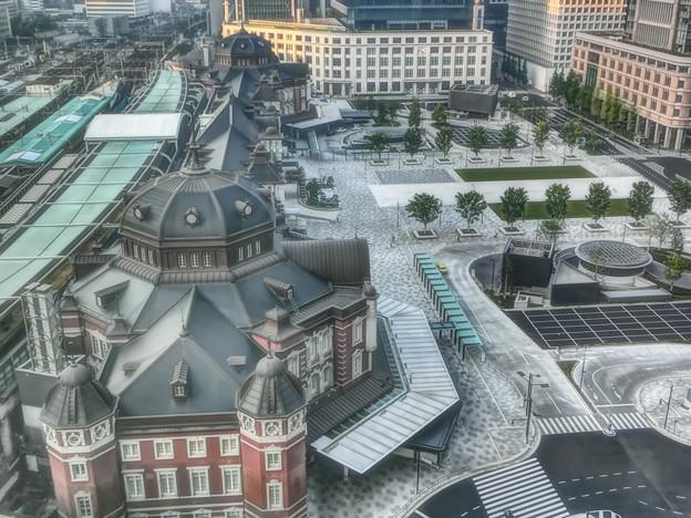 東京駅丸の内駅舎の朝