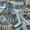写真: 東京駅丸の内駅舎の朝
