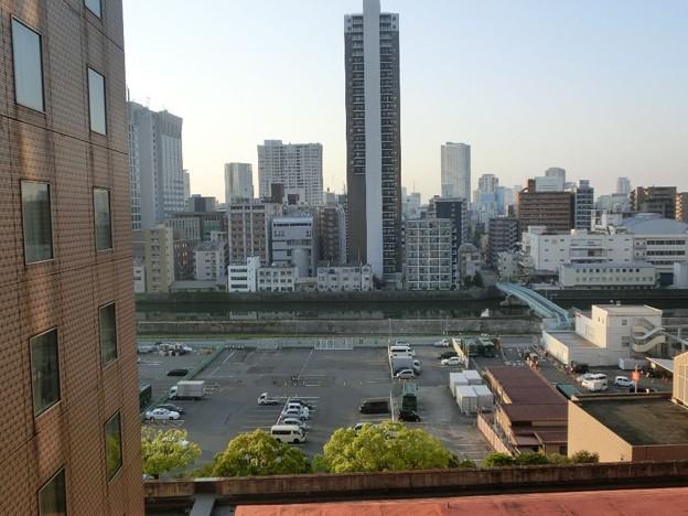 大阪のホテルの朝