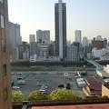 写真: 大阪のホテルの朝