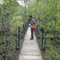 つり橋にて