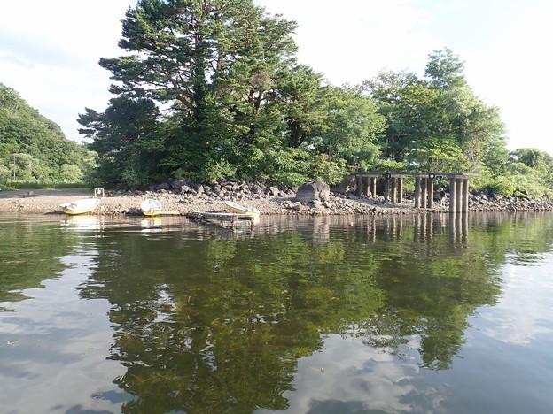 桧原湖の水位は低い