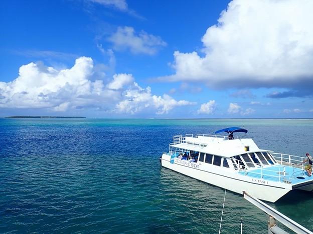 写真: ココス島を臨む