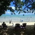 写真: ココス島のビーチ