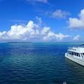 写真: ココス島が見える