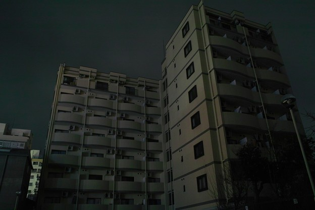東日本大震災の夜は停電