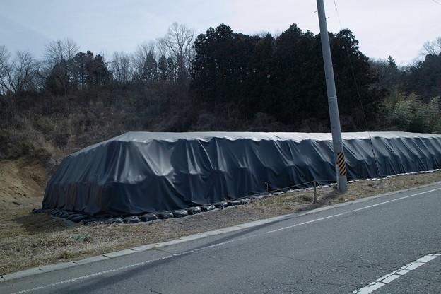 今も残る放射性物質汚染土