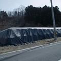 Photos: 今も残る放射性物質汚染土