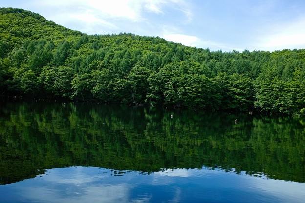 曽原湖にて