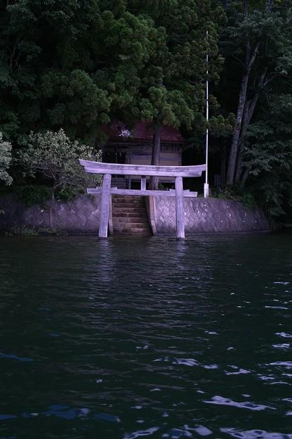 Photos: 水没した鳥居