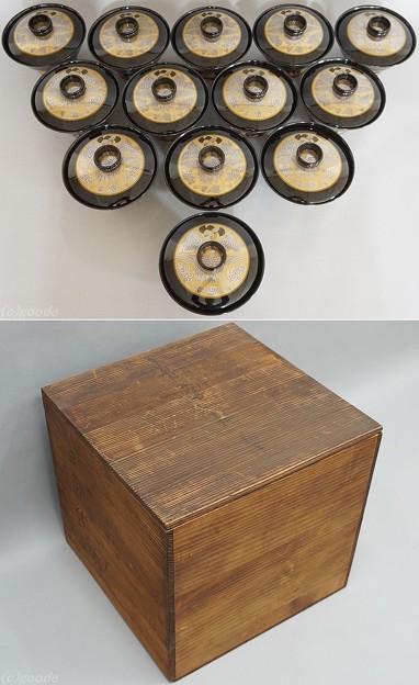 Japan 輪島塗 慶塚漆器工房 日の出 吸物椀