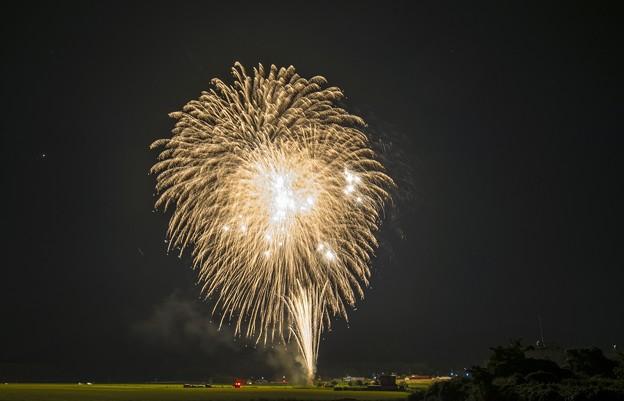 水田の花火