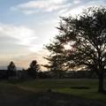 写真: 江別の夕陽