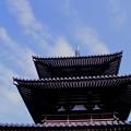 写真: 法起寺三重塔