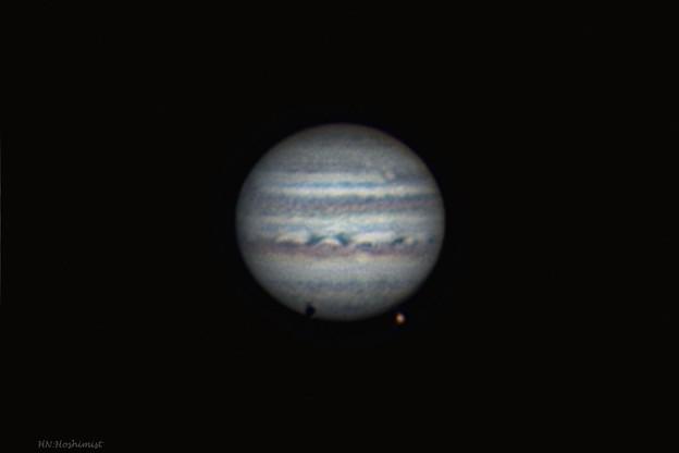 2018.04/23 23:40の木星とガニメデ