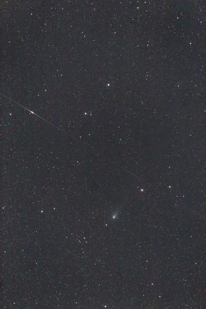ジャコビニ彗星と人工衛星フレア
