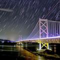 Photos: 大鳴門橋に昇るオリオン