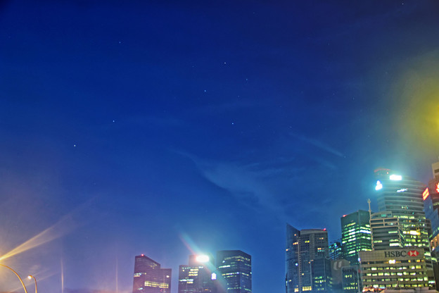 シンガポールの南十字星
