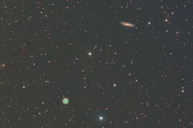 M97ふくろう星雲と渦巻銀河M108