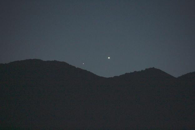 Photos: 水星と金星 拡大