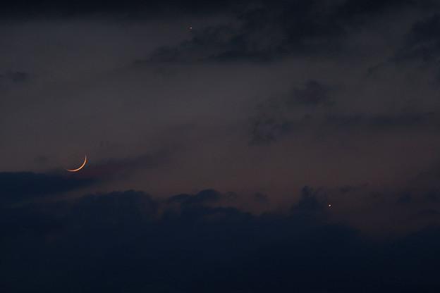 月と金星と水星 コンポジット