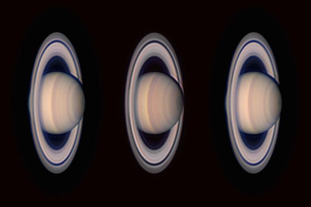 Photos: 2019-08-03の土星と2020-08-15の土星で立体視