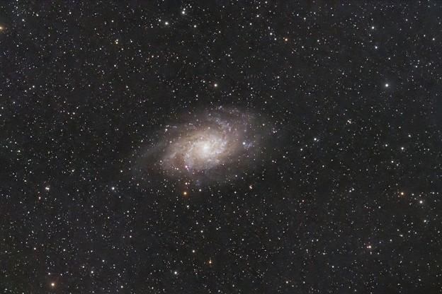 さんかく座の渦巻銀河M33