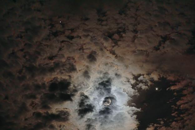 月と木星と土星の接近