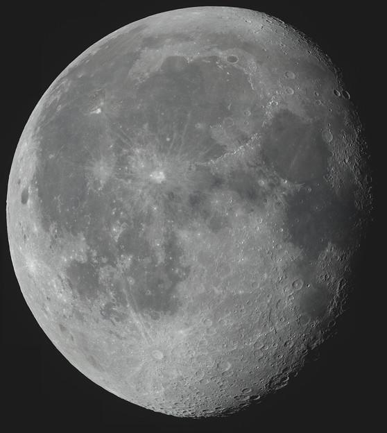 Photos: 月齢18.2 22ピースモザイク合成