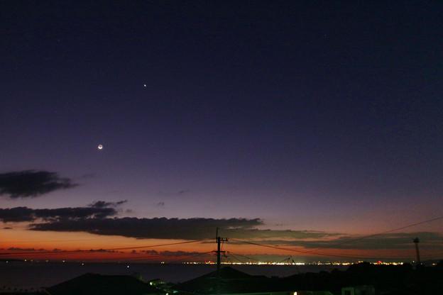 20201015_0532の月と金星 X7i 24mm