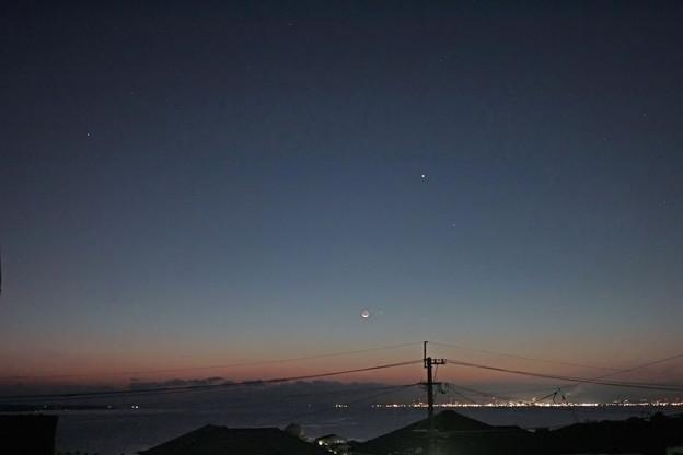 月と水星 2020.11/14 6時00分