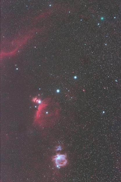 オリオン分子雲とC/2020 M3 アトラス彗星