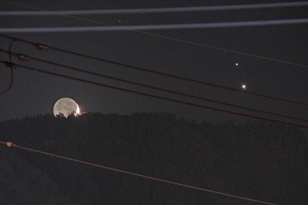 木星土星の接近と三日月3