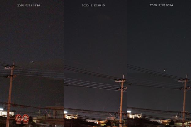 土星と木星 1221と1222と1223