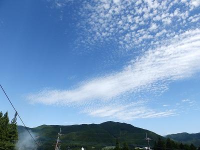 9月13日「秋空と雲」